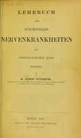 view Lehrbuch der functionellen Nervenkrankheiten auf physiologische Basis.