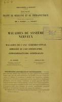 view Nouveau traite de medecine et e therapeutique Maladies du systeme nerveux.