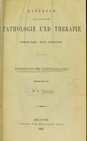view Handbuch der speciellen pathologie und Therapie.
