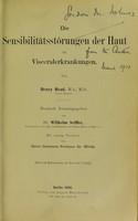view Die Sensibilitatsstorungen der Haut bei Visceralerkrankungen / Trans by Wilhelm Seiffer.