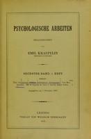 view Uber den Ablauf einfacher willkurlicher Bewegungen (From Psychologische Arbeiten 6 (1) 1910).