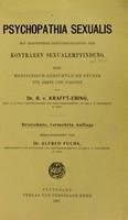 view Psychopathia sexualis : mit besonderer Berucksichtigung der kontraren Sexualempfindung: eine medizinisch-gerichtliche Studie fur Arzte und Juriste / Edited by Alfred Fuchs.
