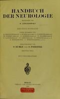 view Handbuch der Neurologie.