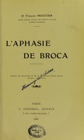 view L'aphasie de Broca.