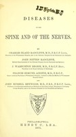 view Diseases of the spine and of the nerves / By C.B.R., John Netten Radcliffe, J.Warburton Begbie, Francis Edmund Ainstie and John Russell Reynolds.