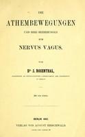 view Die Athembewegungen und ihre Beziehungen zum Nervus Vagus.