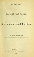 view Handbuch der Diagnostic und Therapie der Nerven-krankheiten.