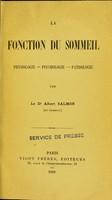 view La fonction du sommeil : physiologie, psychologie,pathologie.