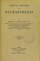 view Clinical lectures on neurasthenia.