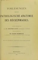 view Vorlesungen uber die pathologische Anatomie des Ruckenmarks.