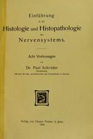 view einfuhrung in die Histologie und Histopathologie des Nervensystems.