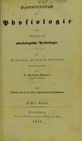 view Handworterbuch der physiologie mit Rudsicht auf physiologische pathologie.