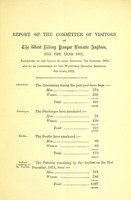 view Report of the Committee of Visitors and of the medical superintendent of the West Riding Pauper Lunatic Asylum, for the year 1871.