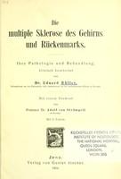 view Die multiple Sklerose des Gehirns und Rückenmarks : ihre Pathologie und Behandlund / klinisch bearbeitet von Eduard Müller ; mit einem Vorwort von Adolf von Strümpell.