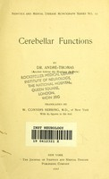 view Cerebellar functions / Dr. Andre-Thomas.