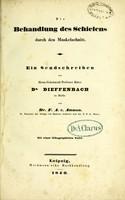 view Die Behandlung des Schielens durch den Muskelschnitt : ein Sendschreiben an Herrn Geheimrath Professor Ritter Dr. Dieffenbach zu Berlin / von F. A. v. Ammon.