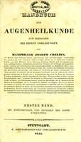 view Handbuch der Augenheilkunde : zum Gebrauche bei seinen Vorlesungen / von Maximilian Joseph Chelius.