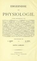 view Ergebnisse der Physiologie / herausgegeben von L. Asher und K. Spiro.