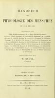 view Handbuch der Physiologie des Menschen / herausgegeben von W. Nagel.