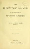 view Die Erkrankungen des Auges : im Zusammenhang mit anderen Krankheiten / von H. Schmidt-Rimpler.