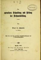 view Zur operativen Behandlung und Heilung der Netzhautablösung / von Dr. Schoeler.