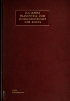 view Diagnostik der Bewegungsstörungen der Augen / von E. Landolt.