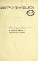 view A study of the ocular manifestations of systemic gonorrhoea [sic] with reports of cases of this nature / by W. Gordon M. Byers.