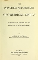 view The principles and methods of geometrical optics : especially as applied to the theory of optical instruments