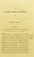 view Observations on some of the general principles and on the particular nature and treatment of the different species of inflammation : being, with additions, the subject of an essay to which the Jacksonian Prize, for the year 1818, was adjudged by the Royal College of Surgeons / by J. H. James.