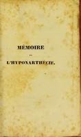view Mémoire sur l'hyponarthécie, ou, Sur le traitment des fractures par la planchette : avec une nouvelle manière de la suspendre et d'y assujétir les membres; et la description d'un appareil particulier / par Matthias Mayor.