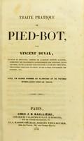 view Traité pratique de pied-bot / par Vincent Duval.