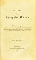 view Maximen der Kreigsheilkunst / von Dr. L. Stromeyer.