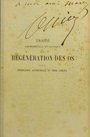 view Traité expérimental et clinique de la régénération des os : et de la production artificielle du tissu osseux / par L. Ollier.