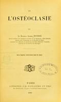 view De l'ostéoclasie / par le docteur Alfred Pousson.