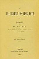 view Du traitement des pieds bots : notice / par Henri Martin.