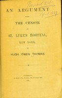 view An argument with the censor at St. Luke's Hospital, New York