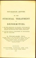 view On the surgical treatment of deformities / by William Adams.