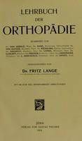 view Lehrbuch der Orthopädie / bearbeitet von Dr. von Aberle and others; herausgegeben von Dr. Fritz Lange.