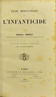 view Étude médico-légale sur l'infanticide / par Ambroise Tardieu.