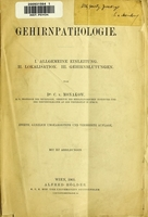 view Gehirnpathologie / von C. v. Monakow.