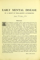 view Early mental disease.