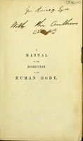 view A manual of the dissection of the human body