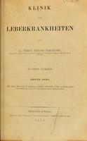 view Klinik der Leberkrankheiten / von Fried. Theod. Frerichs.