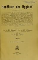 view Handbuch der Hygiene