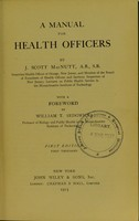 view A manual for health officers