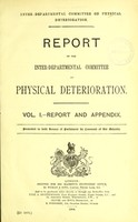 view Report of the Inter-departmental Committee on Physical Deterioration.