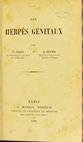 view Les herpès génitaux / par P. Diday et A. Doyon.