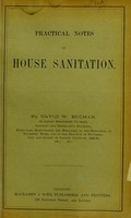 view Practical notes on house sanitation