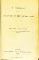 view A directory for the dissection of the human body