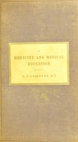view On medicine and medical education : three lectures with notes and an appendix